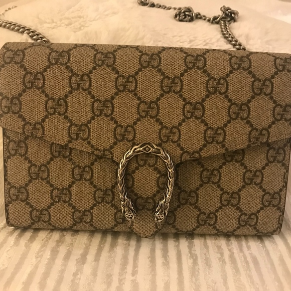 875a40506 Gucci Handbags - $1050.00 Gucci Dionysus GG Supreme Wallet on Chain